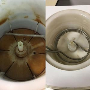 Higienização de filtro de água